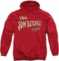 Smokey And The Bandit pull-over hoodie Sombitch adult red
