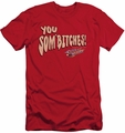 Smokey And The Bandit slim-fit t-shirt Sombitch mens red