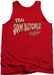 Smokey And The Bandit tank top Sombitch mens red