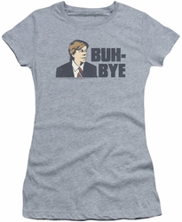 SNL Saturday Night Live juniors sheer t-shirt Buh Bye  heather