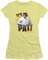 SNL Saturday Night Live juniors sheer t-shirt Its Pat  banana