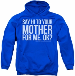 SNL Saturday Night Live pull-over hoodie Hi Mother adult royal blue