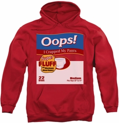 SNL Saturday Night Live pull-over hoodie Oops adult red