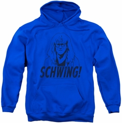 SNL Saturday Night Live pull-over hoodie Schwing adult royal blue