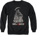 Sons of Anarchy adult crewneck sweatshirt Pile Of Skulls black