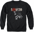 Sons of Anarchy adult crewneck sweatshirt Rip Through black