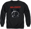 Sons of Anarchy adult crewneck sweatshirt Skull Back black