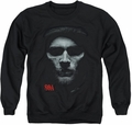 Sons of Anarchy adult crewneck sweatshirt Skull Face black