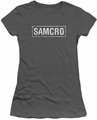 Sons of Anarchy juniors sheer t-shirt Samcro charcoal