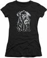 Sons of Anarchy juniors sheer t-shirt Smoky Reaper black