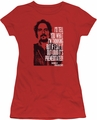 Sons of Anarchy juniors sheer t-shirt With Tig red