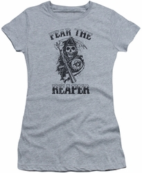 Sons of Anarchy juniors t-shirt Fear The Reaper athletic heather