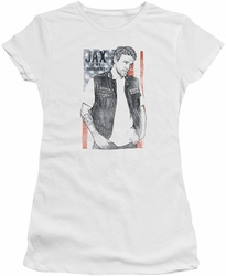 Sons of Anarchy juniors t-shirt Jax President white