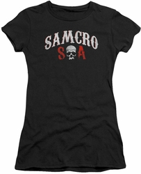Sons of Anarchy juniors t-shirt SAMCRO Forever black