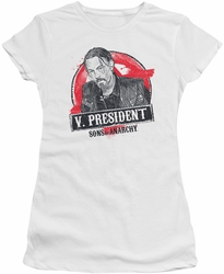 Sons of Anarchy juniors t-shirt Vice President white