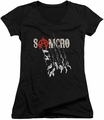 Sons of Anarchy juniors v-neck t-shirt Rip Through black