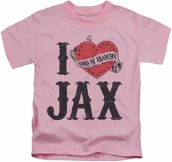 Sons of Anarchy kids t-shirt I Heart Jax pink