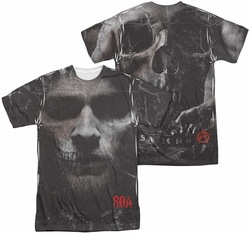 Sons of Anarchy mens full sublimation t-shirt Jax Skull