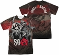 Sons of Anarchy mens full sublimation t-shirt Reaper Ball
