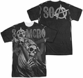 Sons Of Anarchy mens full sublimation t-shirt SAMCRO Reaper