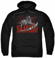 Sons Of Anarchy pull-over hoodie Acronym adult black