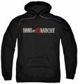 Sons Of Anarchy pull-over hoodie Beat Up Logo adult black