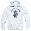 Sons of Anarchy pull-over hoodie Bloody Sickle adult white