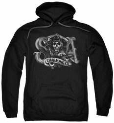 Sons Of Anarchy pull-over hoodie Charming CA adult black