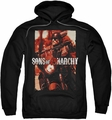 Sons of Anarchy pull-over hoodie Code Red adult black