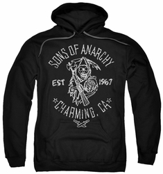 Sons Of Anarchy pull-over hoodie Fabric Print adult black