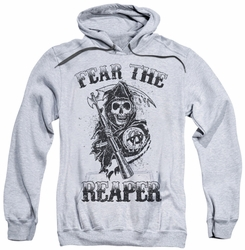 Sons Of Anarchy pull-over hoodie Fear The Reaper adult athletic heather