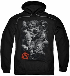 Sons Of Anarchy pull-over hoodie Group Fight adult black