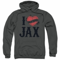 Sons of Anarchy pull-over hoodie I Heart Jax adult charcoal