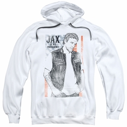 Sons of Anarchy pull-over hoodie Jax President adult white