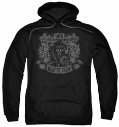 Sons Of Anarchy pull-over hoodie Original Reaper Crew adult black