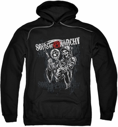 Sons of Anarchy pull-over hoodie Reaper Logo adult black