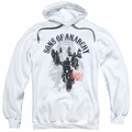 Sons of Anarchy pull-over hoodie Reapers Ride adult white