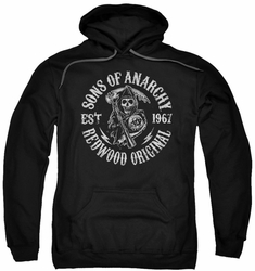 Sons Of Anarchy pull-over hoodie Redwood Originals adult black
