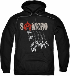 Sons of Anarchy pull-over hoodie Rip Through adult black