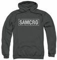 Sons Of Anarchy pull-over hoodie Samcro adult charcoal