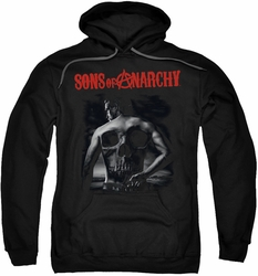 Sons of Anarchy pull-over hoodie Skull Back adult black