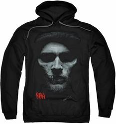 Sons of Anarchy pull-over hoodie Skull Face adult black