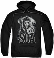 Sons Of Anarchy pull-over hoodie Smoky Reaper adult black