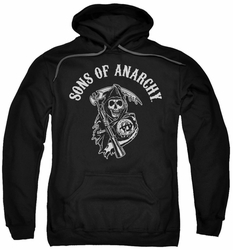 Sons Of Anarchy pull-over hoodie SOA Reaper adult black