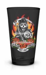 Sons of Anarchy Reaper Foil Print black Pint Glass
