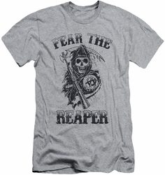 Sons Of Anarchy slim-fit t-shirt Fear The Reaper mens athletic heather