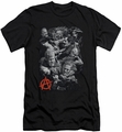 Sons Of Anarchy slim-fit t-shirt Group Fight mens black