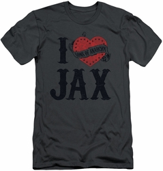 Sons Of Anarchy slim-fit t-shirt I Heart Jax mens charcoal