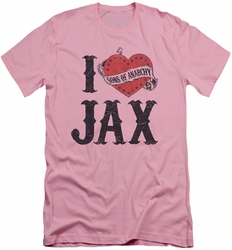 Sons of Anarchy slim-fit t-shirt I Heart Jax mens pink