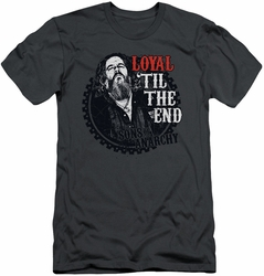Sons Of Anarchy slim-fit t-shirt Loyal mens charcoal